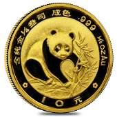 Chinese 1/10 oz Gold Panda Proof/Unc (Random Year  Not