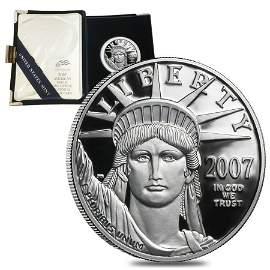 2007 W 1 oz Platinum American Eagle Proof Coin (w/Box &