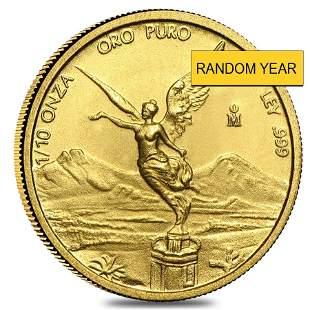 1/10 oz Mexican Gold Onza / Libertad BU (Random Year)