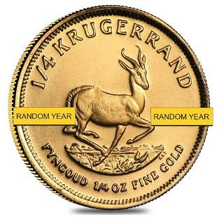 1/4 oz South African Krugerrand Gold Coin BU/Proof