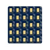 25x1 gram Gold Bar PAMP Suisse Fortuna Multigram+25 (In