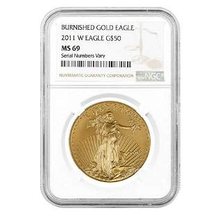 2011-W 1 oz $50 Burnished Gold American Eagle NGC MS 69