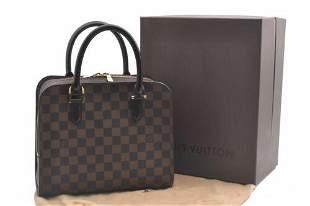 Authentic Louis Vuitton Damier Triana Hand Bag N51155