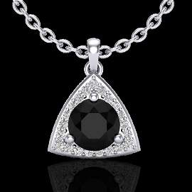 1.75 ctw Micro Pave VS/SI Diamond Certified Necklace