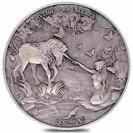 2021 Chad 2 oz Silver Mermaid & Unicorn Serial #10 PCGS