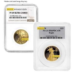 1/2 oz $25 Proof Gold American Eagle NGC/PCGS PF 69