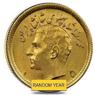 Iran 1/2 Pahlavi Gold Coin AU/BU .1177 oz AGW (Random