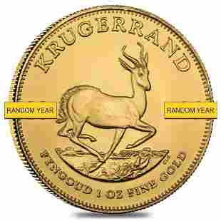 1 oz South African Krugerrand Gold Coin BU (Random