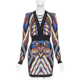 Authentic  BALMAIN Runway ethnic tribal knitted lace