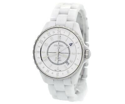 Authentic Chanel J12 GMT Automatic 38mm Ceramic White