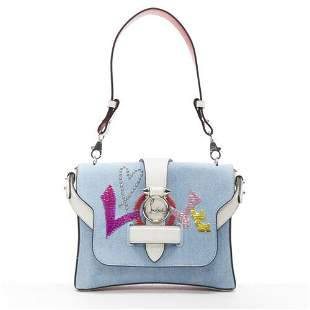 Authentic CHRISTIAN LOUBOUTIN Rubylou Small Love blue