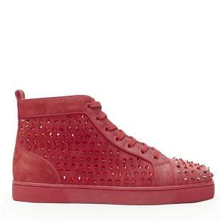 Authentic CHRISTIAN LOUBOUTIN Louis Spikes Krysta red
