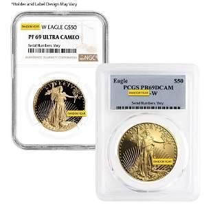 1 oz $50 Proof Gold American Eagle NGC/PCGS PF 69