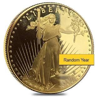 1 oz Proof Gold American Eagle Scruffy (Random Year)
