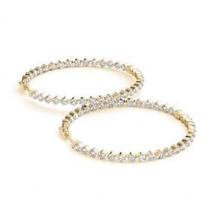 1.75 ctw Diamond VS/SI 27 MM Hoop Earrings 14k Yellow