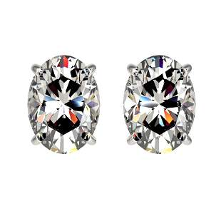 2 ctw Certified VS/SI Quality Oval Diamond Stud