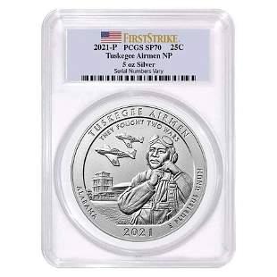 2021-P 5 oz Silver ATB Alabama Tuskegee Airmen Coin