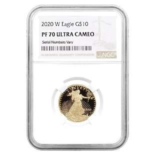 2020-W 1/4 oz $10 Proof Gold American Eagle NGC PF 70