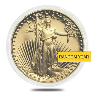 1/10 oz Proof Gold American Eagle In Cap (Random Year)