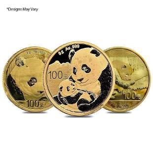 Chinese 8 gram Gold Panda .999 Fine (Random Year