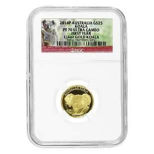 2014 P 1/4 oz Proof Gold Australian Koala Perth Mint