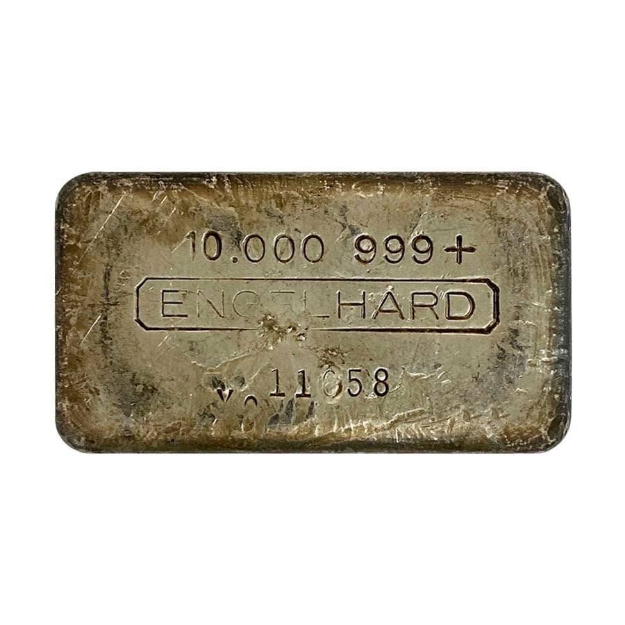 10 oz Engelhard Cast Silver Bar .999+ Fine (X8 Error