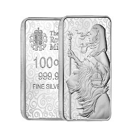 100 oz Great Britain Una and the Lion Silver Bar .9999