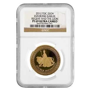 2012 Tristan Da Cunha Proof Gold Double Sovereign
