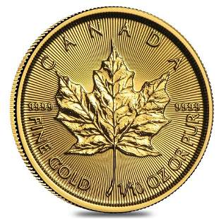 2021 1/10 oz Canadian Gold Maple Leaf $5 Coin .9999