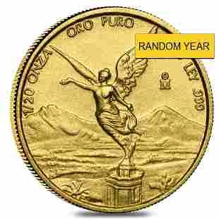 1/20 oz Mexican Gold Onza / Libertad BU (Random Year)