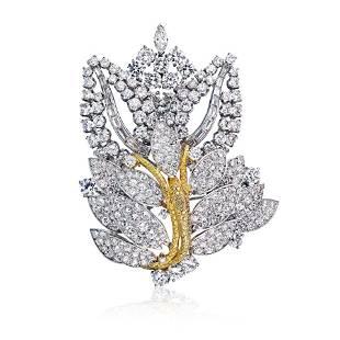 Circa 1960's Platinum & 18K Yellow Gold 16 carat