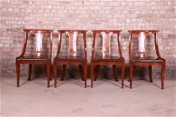 Baker Furniture Regency Klismos Style Mahogany Dining