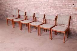 Moller Style Danish Modern Teak Dining Chairs Set of