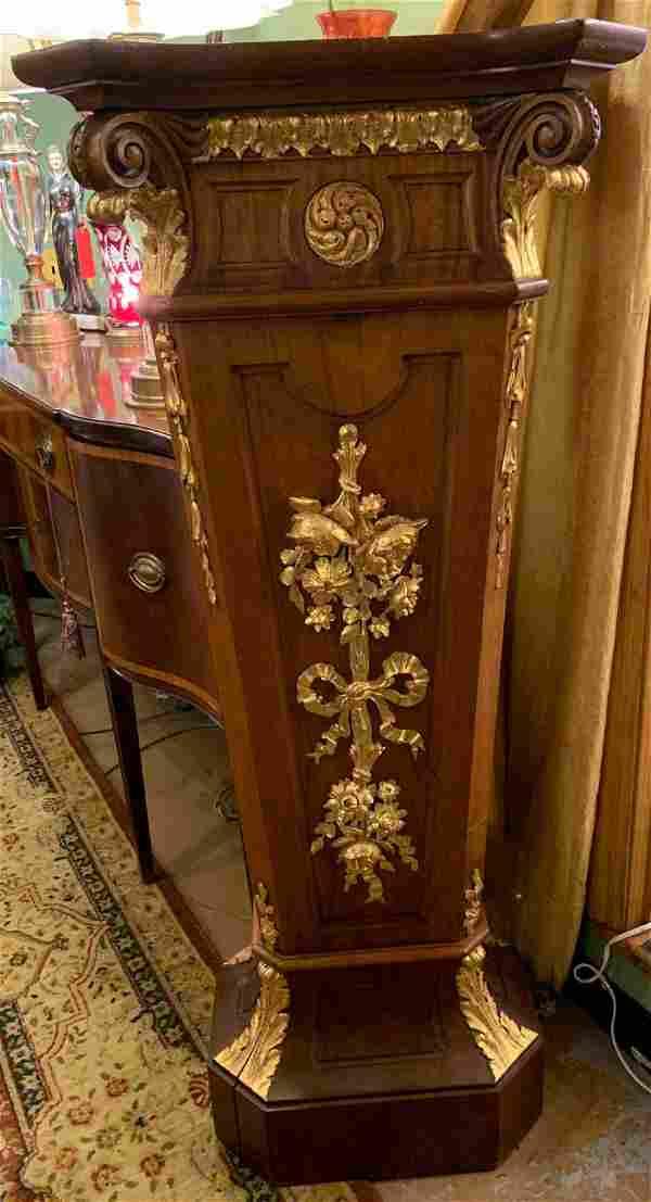 Antique French Louis XVI Style Gilt Ormolu Floral