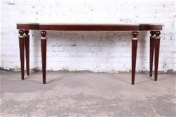 Barbara Barry for Baker Furniture Mahogany and Gold