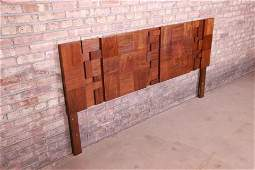 Paul Evans Style Mid-Century Modern Brutalist Walnut