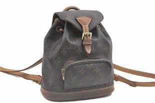 Authentic Louis Vuitton Monogram Montsouris PM Backpack