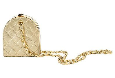 Authentic Chanel Gold Evening Bag