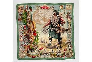 Authentic Hermes Les Ameriques Scarf by Oliver