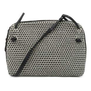 Authentic BOTTEGA VENETA Shoulder Bag White/Blue