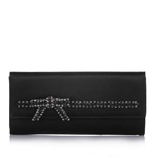 Authentic Gucci Embroidered Velvet Clutch Bag
