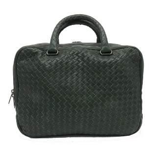 Authentic BOTTEGA VENETA Brief Case Business Bag Green