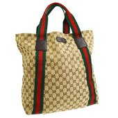 Authentic GUCCI GG Sherry Line Hand Tote Bag
