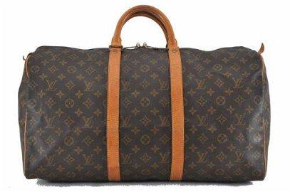 Authentic Louis Vuitton Monogram Keepall 50 Boston Bag