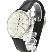 Authentic IWC Portugieser Chronograph Leather Automatic