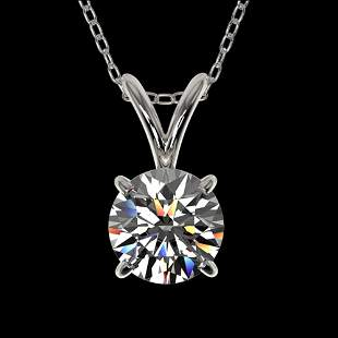 0.72 ctw Certified Quality Diamond Solitaire Necklace