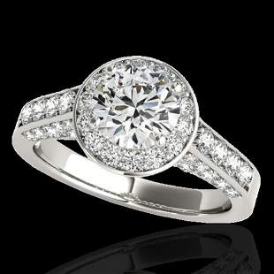 2.56 ctw Certified Diamond Solitaire Halo Ring 10k