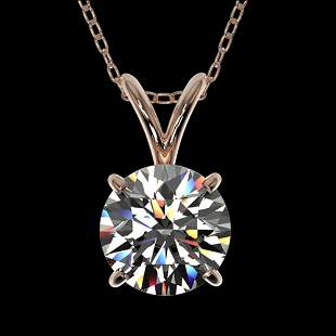 1 ctw Certified Quality Diamond Solitaire Necklace 10k