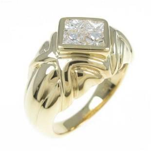 Authentic K18 Yellow Gold Diamond ring