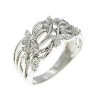 Authentic Platinum Diamond ring